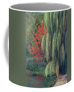 Coffee Mug featuring the drawing Willow Tree - Hidden Lake Gardens -tipton Michigan by Yoshiko Mishina