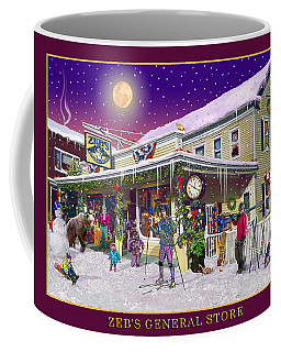 Winter At Zebs General Store In North Conway Nh Coffee Mug