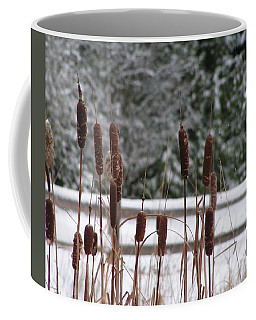 Winter Cattails Coffee Mug