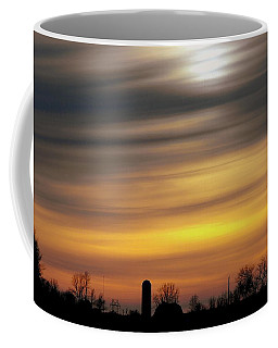 Winter Farm Sunset Coffee Mug