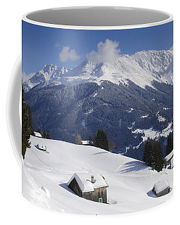 Winter Landscape In The Mountains Coffee Mug