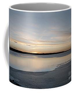 Winter Sunset Over Lake Coffee Mug