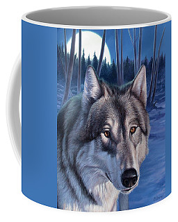 Wolf In Moonlight Coffee Mug
