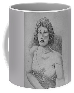 Woman With Strap Off Shoulder Coffee Mug