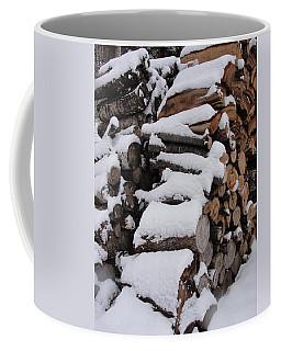 Coffee Mug featuring the photograph Wood Pile by Tiffany Erdman