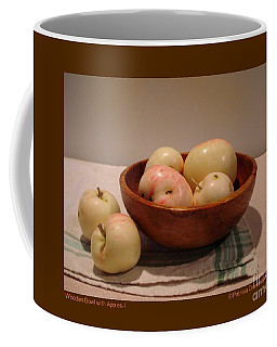 Wooden Bowl With Apples-i Coffee Mug