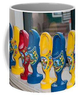 Coffee Mug featuring the digital art Wooden Shoes by Carol Ailles