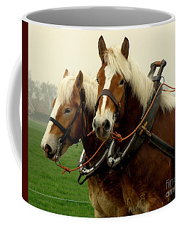 Coffee Mug featuring the photograph Work Horses by Lainie Wrightson