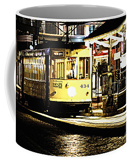 Coffee Mug featuring the photograph Ybor Train by Angelique Olin