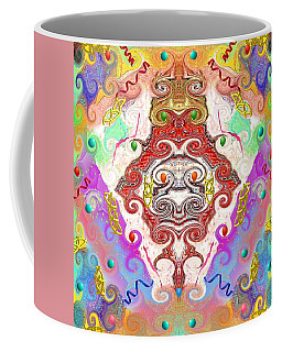 Coffee Mug featuring the digital art Year Of The Dragon by Alec Drake