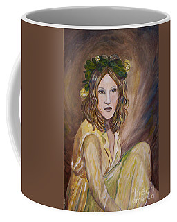 Coffee Mug featuring the painting Yellow Rose by Julie Brugh Riffey