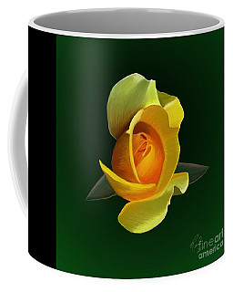 Yellow Rose Coffee Mug by Rand Herron