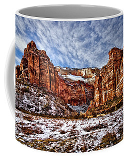 Zion Canyon In Utah Coffee Mug