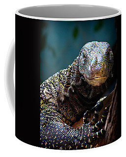 Coffee Mug featuring the photograph  A Crocodile Monitor Portrait by Lana Trussell