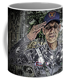 Bank Security Officer - On A Rainy Day Coffee Mug by Ian Gledhill