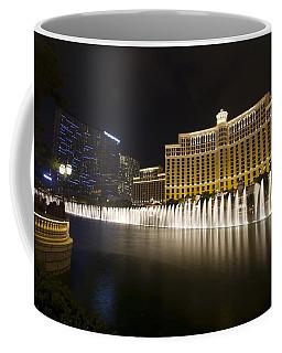 Bellagio Fountain In Las Vegas At Night Coffee Mug