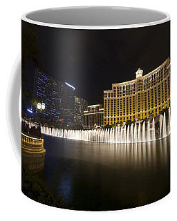 Bellagio Fountain In Las Vegas At Night Coffee Mug