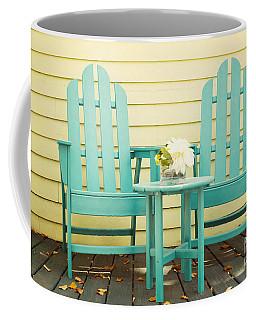 Blue Adirondack Chairs  Coffee Mug