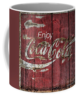 Coca Cola Sign Barn Wood Coffee Mug by John Stephens