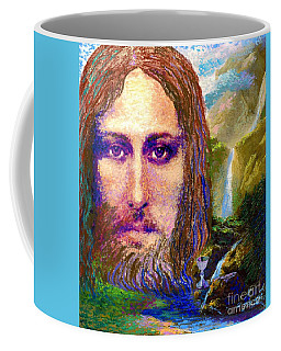 Contemporary Jesus Painting, Chalice Of Life Coffee Mug by Jane Small
