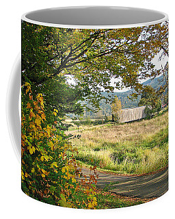 Fall At Grays River Covered Bridge Coffee Mug