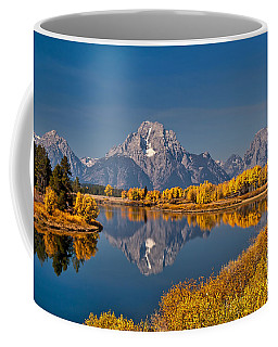 Fall Colors At Oxbow Bend In Grand Teton National Park Coffee Mug