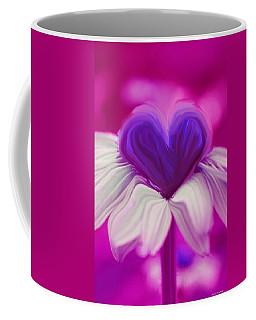 Coffee Mug featuring the photograph  Flower Heart by Linda Sannuti