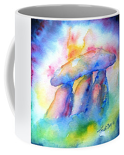 Coffee Mug featuring the painting  Haroldstown Dolmen by Trudi Doyle