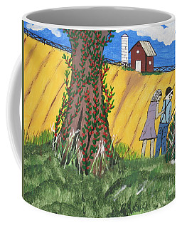 Coffee Mug featuring the painting  I Got A Big One. by Jeffrey Koss