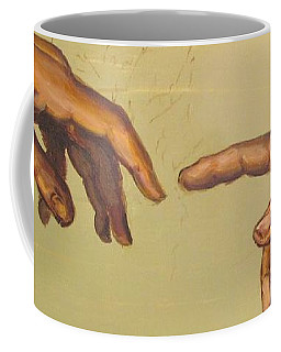 Coffee Mug featuring the painting  Michelangelos Creation Of Adam 1510 by Eric Dee