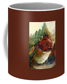 Coffee Mug featuring the painting  Mountains Fire by Henryk Gorecki