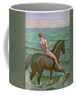 Original Oil Painting Gay Man Art Male Nude  Boy And Horse #16-2-5-15 Coffee Mug