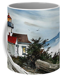Point Robinson Lighthouse And Mt. Rainier Coffee Mug