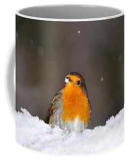 Robin In The Snow Coffee Mug