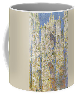 Rouen Cathedral West Facade Sunlight Coffee Mug