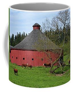 Round Red Barn Coffee Mug