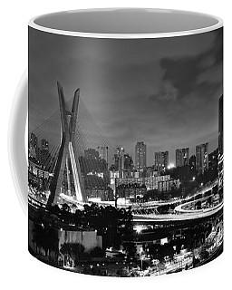 Sao Paulo Iconic Skyline - Cable-stayed Bridge - Ponte Estaiada Coffee Mug