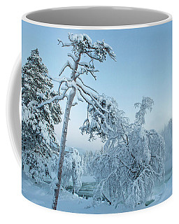 Magic Blue  Storforsen Waterfall  Coffee Mug