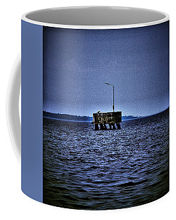 Coffee Mug featuring the photograph  The Dock Of Loneliness by Jouko Lehto