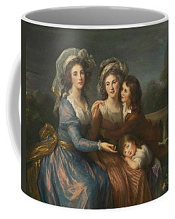 The Marquise De Pezay, And The Marquise De Rouge With Her Sons Coffee Mug