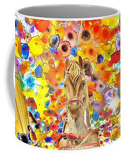 Vegas Horse Flower Power Coffee Mug
