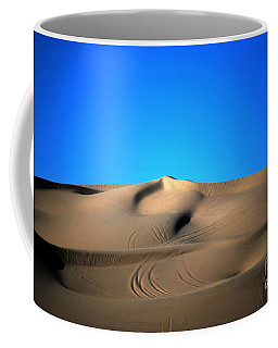 Yuma Dunes Number One Bright Blue And Tan Coffee Mug