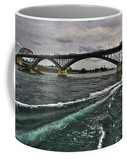 002 Breaking Waves  In The Niagara River Coffee Mug