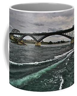 002 Breaking Waves  In The Niagara River Coffee Mug