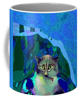 007 The Under Covers Cat Coffee Mug