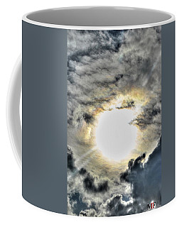 Coffee Mug featuring the photograph 01 Burning Eye In The Sky by Michael Frank Jr