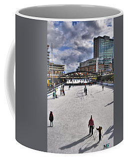 02 Canalside Ice Skaters 10dec16 Coffee Mug by Michael Frank Jr