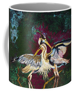 021916 Blue Heron's Dance Coffee Mug