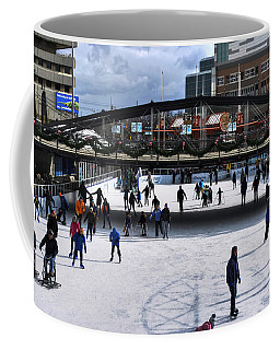 03 Canalside Ice Skaters 10dec16 Coffee Mug by Michael Frank Jr