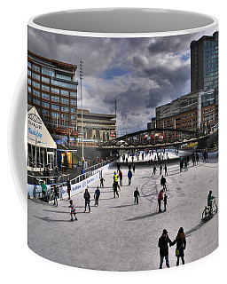 Coffee Mug featuring the photograph 04 Canalside Ice Skaters 10dec16 by Michael Frank Jr